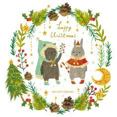 happy christmas. By Megumi Inoue. http://sorahana.ciao.jp/