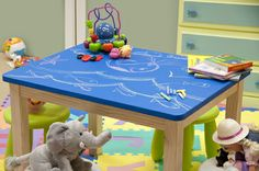 chalkboard paint kids table top - Google Search