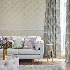 Style Library - The Premier Destination for Stylish and Quality British Design | Products | Charm Wallpaper (HLUT111748) | Lucero Wallpapers | By Harlequin