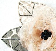 Champagne Organza Flower Hair Clip Corsage with by FairytaleFlower, $19.50