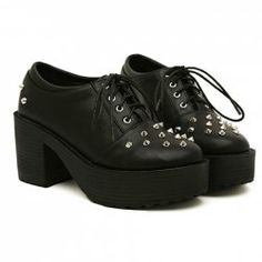 $16.07 Punk Style Women's Platform Shoes With Black and Studs Design