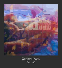 """""""Geneva Ave"""" a sexy reflective painting in Donald Rizzo's """"A Gay Life"""" series.  This 38x40 painting on hand stretched canvas can be viewed and purchased at www.Donald-Rizzo.com"""