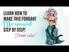 Mermaid fondant cake topper tutorial promo - YouTube