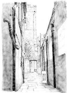 Hornpot Lane snickelway, Low Petergate, York