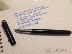 Plniace atramentové pero kovové, čierno strieborné - 1
