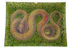 snake on paisley tray
