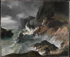 French Painter | Stormy Coast Scene after a Shipwreck | The Met