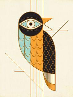 Bird art print // By Russ Gray