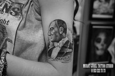 atatürk tattoo  portrait tattoo '' tattoo artist by Murat GÜREL '' manisa dövme