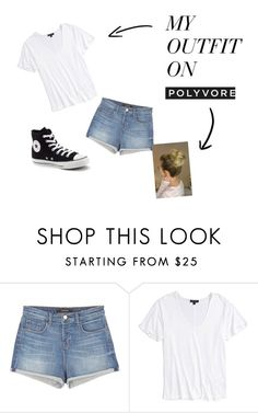"""""""casual day out"""" by missadie ❤ liked on Polyvore featuring J Brand, Topshop and Converse"""