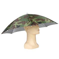 Foldable Sun Umbrella Fishing Hiking Golf Camping Headwear Cap Head Hats Outdoor