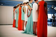 Lineup.. Love the long turquoise gown