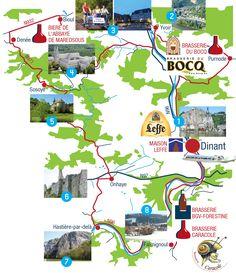 The Belgian Beer route - Dinant et la Haute-Meuse - Wallonia