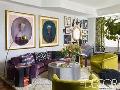 ❤️ the velvet chartreuse swivel club chairs. The two sections of artwork works very well