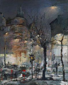 """Saatchi Online Artist: Alvis Zemzaris; Oil, Painting """"Riga"""""""