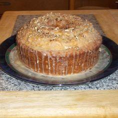 Colonial Maple Nut Cake: 10 inch tube pan cake with maple glaze. Cake Mix Desserts, Cake Mix Recipes, No Bake Desserts, Baking Recipes, Dessert Recipes, Baking Desserts, Cupcake Cakes, Cupcakes, Bundt Cakes