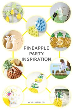 Pineapple Party Inspiration - Cute ideas for throwing a pineapple party!! Love all the entertaining ideas on Pizzazzerie.com
