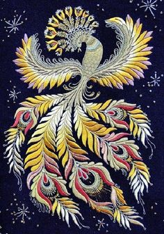 Kim Marie's Embroidery — Some super lovely examples of gold embroidery from...