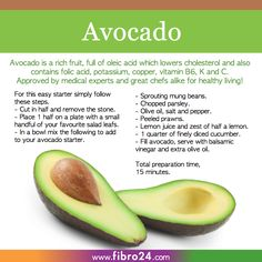 We created a bunch of recipes that could help folks with fibromyalgia. The avocado grows in abundance just like all the minerals and vitamins do inside it. try this great starter and look after yourself in the inside.