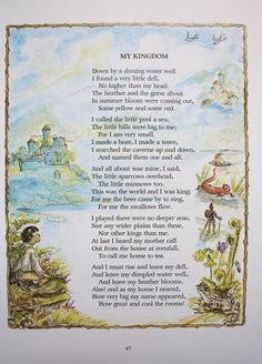 Print of poem My Kingdom by Robert Louis by DomesticatedMe on Etsy, $8.00