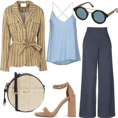 0799b02f27e8 Tracollina in paglia trend di Primavera  outfit donna Trendy per ufficio
