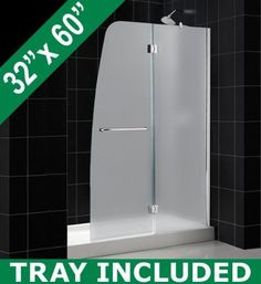 DreamLine AQUA Frosted Glass Shower Door & AMAZON Base Kit 48 x 72 Right Wall Installation Shower Door with 32 x 60 Right Drain Base by DreamLine. $865.95. DreamLine introduces AQUA shower door and AMAZON matching base combos. DreamLine exclusive AQUA door collection offers unique European designs combined with flexible installation options and a superior value. AQUA frameless hinged doors present flawless function and elegance. Amazon shower bases are scratch and stain resistan...