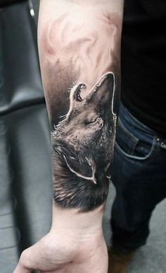 Want to have a wolf tattoo? If your answer is yes, you should definitely look at these wolf tattoos - Best Wolf Tattoos for Men in 2020 Best Wolf Tattoos, 3d Wolf Tattoo, Arm Tattoos Wolf, Wolf Tattoo Forearm, Howling Wolf Tattoo, Wolf Tattoo Sleeve, Cool Forearm Tattoos, Wolf Tattoo Design, Forearm Tattoo Design