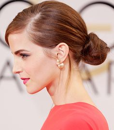 @Who What Wear - Emma Watson                 Event: Golden Globes  Watson had everyone doing a double take on the red carpet when she turned up in a Dior Haute Couture dress and pants combo, but for us, it was all about the single Dior Mise En Dior Tribal Earring ($410, 212.931.2950).