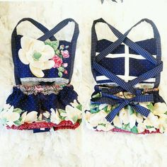 Navy blue floral play suit romper baby girl by TheFourLittleBears on Etsy https://www.etsy.com/listing/243379169/navy-blue-floral-play-suit-romper-baby