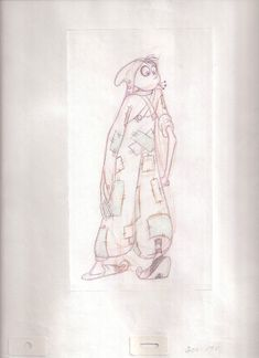 Animation drawing from The Thief and the Cobbler by Richard Williams.