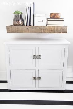 Storage in the bottom cabinet and a filing cabinet in the top!