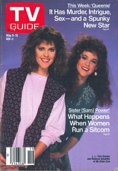 Pam Dawber and Rebecca Schaeffer (My Sister Sam) on the cover of TV Guide - May 9, 1987