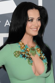 Katy Perry Green Dress at Grammy Awards