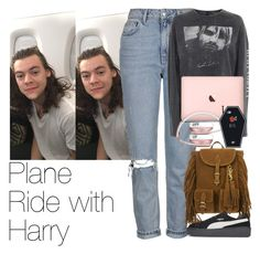 """Plane Ride with Harry"" by zarryalmighty ❤ liked on Polyvore featuring Topshop, Yves Saint Laurent, Puma, OneDirection, harrystyles, onedirectionoutfits and onedirectionsets"