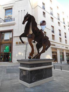 Il cavaliere di Toledo, 2012, Acciaio corten (William Kentridge)