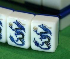 Blue Dragon Mah Jong tiles