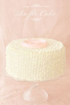Ruffle Cake tutorial- Could easily be done with a white cake from the grocery store.