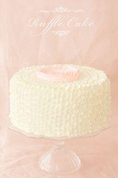 Ruffles Buttercream Flower Cake