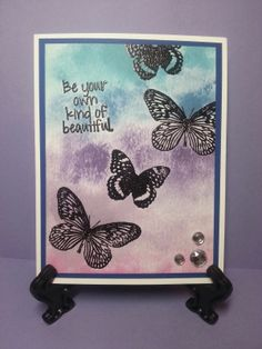 FWF using January 2014 KOM, Be Your Own Kind of Beautiful. I always love using butterflies!!