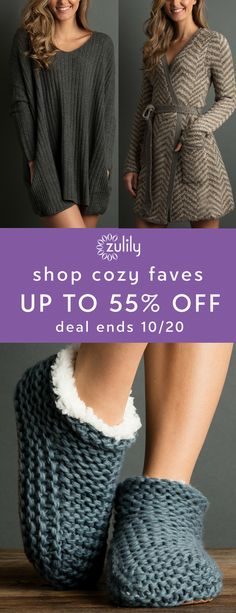 Sign up to shop cozy faves from Lemon Legwear, up to 55% off. Find favorite legwear along with sweaters, robes, slippers and more to bring warm and cozy vibes to your fall and winter closet. Deal ends 10/20.