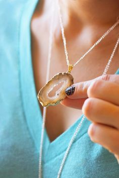 DIY agate necklaces