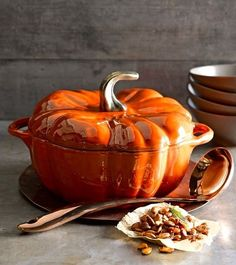 Staub Ceramic Pumpkin Cocotte | Williams-Sonoma