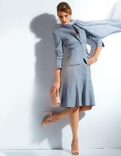Sommerkostüm aus Leinen und Baumwolle | Madeleine Mode Schweiz
