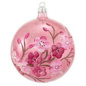 Clear Pink Ball With Cherry Blossoms Ornament - Bronner's CHRISTmas Wonderland - $21.99