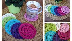 Háčkované prostírky Coasters, Crochet Earrings, Diy, Crochet Ideas, Crocheting, Tricot, Crochet Hooks, Ganchillo, Bricolage