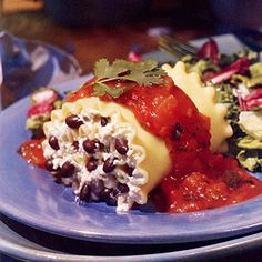 Black Bean Lasagna Rolls | MyRecipes.com