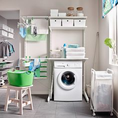 to help you design the best utility room. From clever storage options to ways of saving money, our guide offers laundry room design ideas. Plus how to make the most of space in a small utility room. Ikea Laundry Room, Modern Laundry Rooms, Laundry Room Shelves, Laundry Room Cabinets, Laundry Room Organization, Laundry Storage, Laundry Room Design, Ikea Algot, Primitive Laundry Rooms