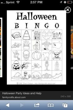 Another Halloween bingo for the little kids