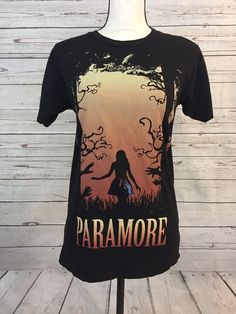 PARAMORE Band T-Shirt Medium Girl In Forest Hayley Williams  Slim Fit Rare VGUC  | eBay