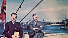 Fargefotoskatt fra 1937 - Aftenposten photo Thomas Neumann passengers between Germany and Norway -